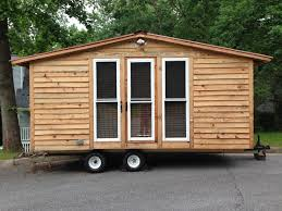 tiny home cabin tiny house cabin on wheels with many poplar cedar and pine