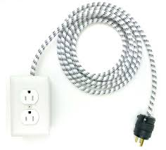 white extension cord modern extension cords for home office or by conway electric
