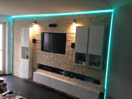 Heimkino Wohnzimmer Beleuchtung Fernsehwand Mit Indirekter Beleuchtung