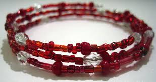 beaded wire bracelet images Make a bead bracelet using memory wire jpg