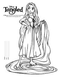 lovely princess rapunzel coloring pages free coloring pages