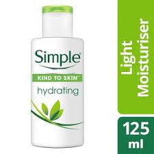 simple hydrating light moisturizer simple kind to skin hydrating light moisturiser 125ml women s