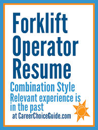 Sample Resume For Assembly Line Operator by Forklift Operator Resume Sample Resumes And Cover Letters