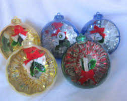 vintage christmas ornament jewel brite plastic ornaments with