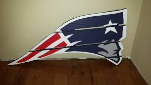 patriots sign made from reclaimed lumber hand
