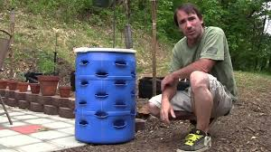 vertical diy strawberry planter youtube