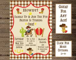 theme invitations birthday cowboy invite cowboy invitation cowboy theme birthday