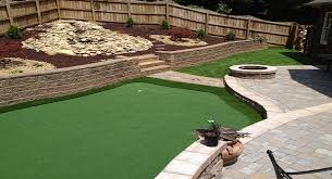 Building A Backyard Putting Green Artificial Putting Green Installation North Carolina South Carolina