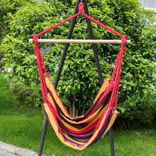 Brazilian Hammock Chair Hammock Hanging Chair Porch Swing Seat Patio Camping Portable
