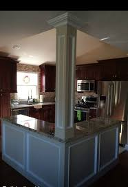 open floor plan kitchen knock down walls l shaped island column
