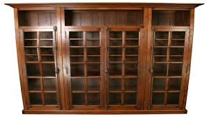 Wooden Bookcase With Glass Doors Antique Bookcase With Glass Doors Antique Wood Bookcase Glass