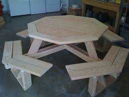 Woodworking Plans For Octagon Picnic Table by Octagonal Picnic Table By Deucefour Lumberjocks Com