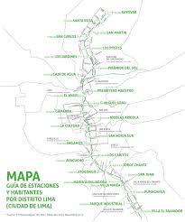 Lima Map Línea 1 Del Metro De Lima