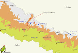 Map Nepal India by Annapurna Circuit Gif