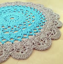 How To Make T Shirt Yarn Rug Crochet Doily Rug Pattern Lvly