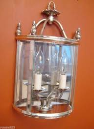 Lightolier Wall Sconce Vintage Sconces Pair Antique 1930s Silver Lightolier Wall Lights