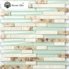 green glass tiles for kitchen backsplashes tst glass conch style of pearl shell resin white