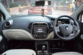renault captur white interior renault captur dashboard indian autos blog