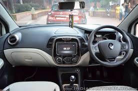 renault captur white interior renault captur dashboard indian autos blog