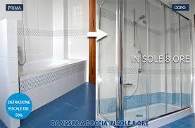 trasformare una doccia in vasca da bagno vasca a doccia in sole 8 ore a firenze