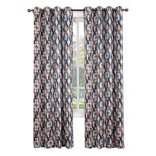 At Home Curtains Stone Nova Pattern Window Curtain Panel 84 In At Home At Home