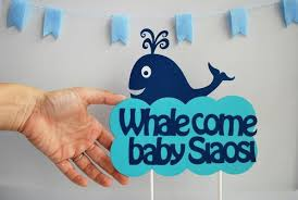 baby shower whale theme whale come baby party centerpiece personalized welcome baby