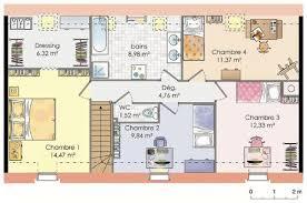 plan de maison a etage 5 chambres plan maison t5