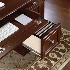 Desk With Outlets by Palladia Executive Desk 412902 Sauder