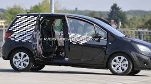 opel meriva opel meriva spied with flex doors wide open motor1 com photos