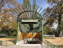 Paris Subway The Entrance Of The Métro Station At Porte Dauphine Paris With A