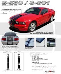 2006 Mustang Gt Black Mustang Wildstang S 500 Vinyl Racing Stripe Kit For 2005 2009
