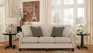 signature design by ashley camden sofa milari linen rayon sofa from ashley 1300038 coleman furniture