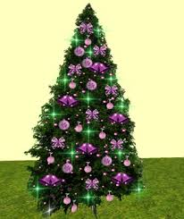 second life marketplace l b christmas tree with purple bows