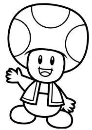 super mario bros toad coloring free printable coloring pages