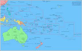 Australian Map Of The World oceania map