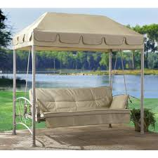 Outdoor Swing With Canopy Swing Futon Roselawnlutheran