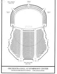 orchestra floor plan chicago symphony center chicago tickets schedule seating