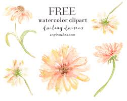 flower clip free watercolor clip daisies