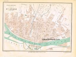Map St Louis Plan De St Louis Antique Maps And Charts U2013 Original Vintage