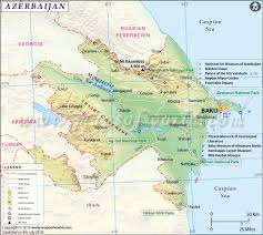 Map O Azerbaijan Map Map Of Azerbaijan