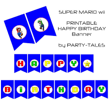 super mario kart wii boys printable party shoppartytales