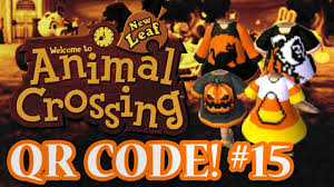 animal crossing new leaf qr codes halloween special episode