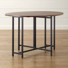 origami drop leaf oval dining table crate and barrel