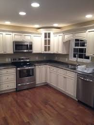 slate appliances with gray cabinets kitchen cabinet options install reface or refinish dark wood
