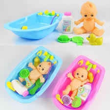 baby shower tub child pretend play baby doll bathing shower bath tub shoo