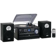 new jensen am fm radio 3 speed turntable cd cassette record player