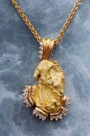 custom gold necklace alaskan gold nugget pendants and necklaces