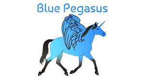 fairy tail horse pegasus blue unicorn wings typography