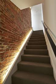 Brick Stairs Design Designs Ideas Elegant Staircase With Lighting Decor Against