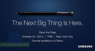 save the date emails samsung says save the date for the next big thing on october 24
